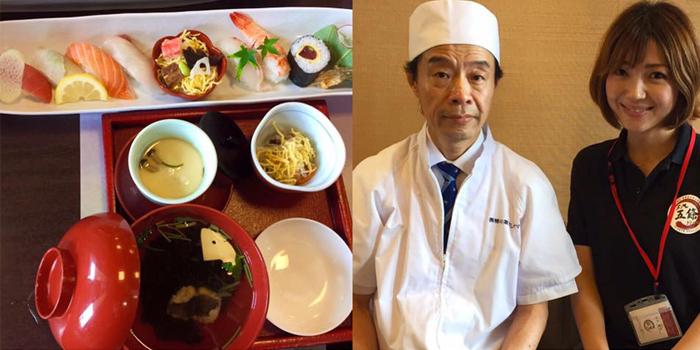 パーソナリティ斎藤有紀さんと柿の葉ずしヤマト五條本店 大和鮨 夢宗庵の料理長 中西